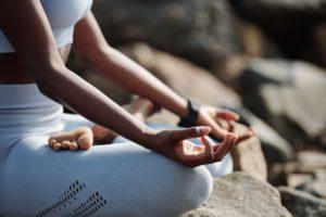 Woman practicing meditation